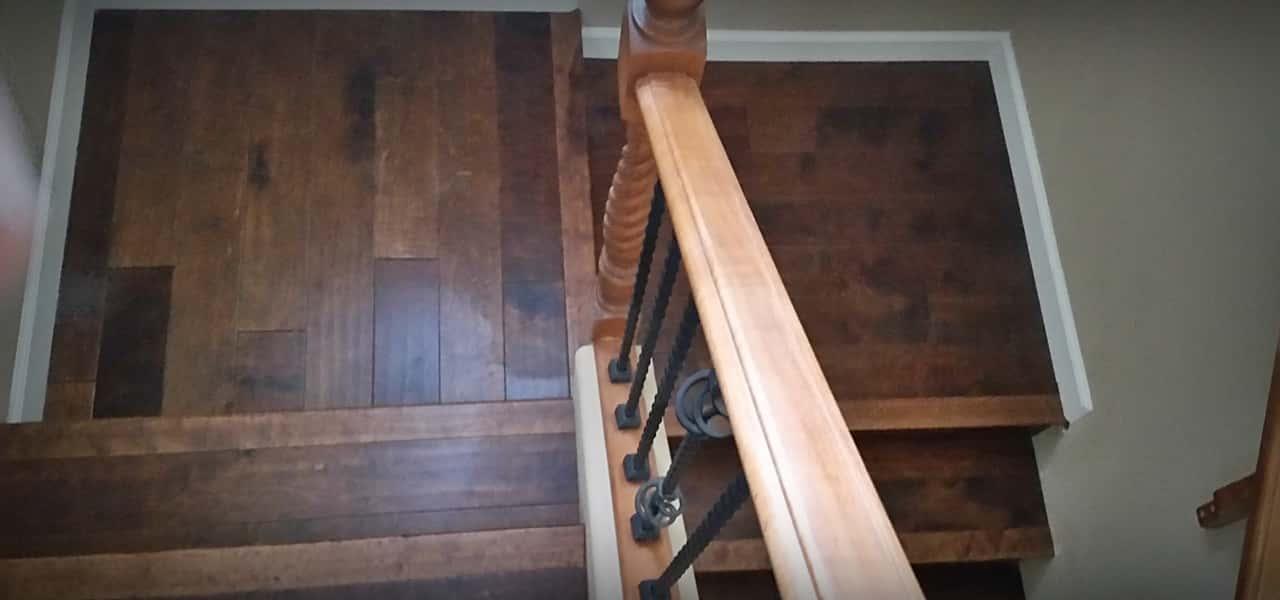 Hardwood installation - Stairway area